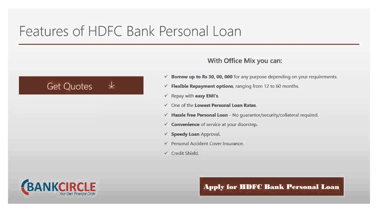 How to Apply for a HDFC Bank Personal - YouTube