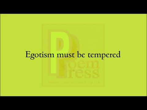 Egotism poem by Poem Press