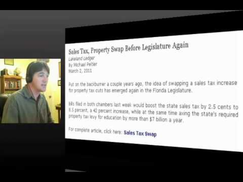 Real America: Property Tax  to Sales Tax Swap: 20110310 pt 1