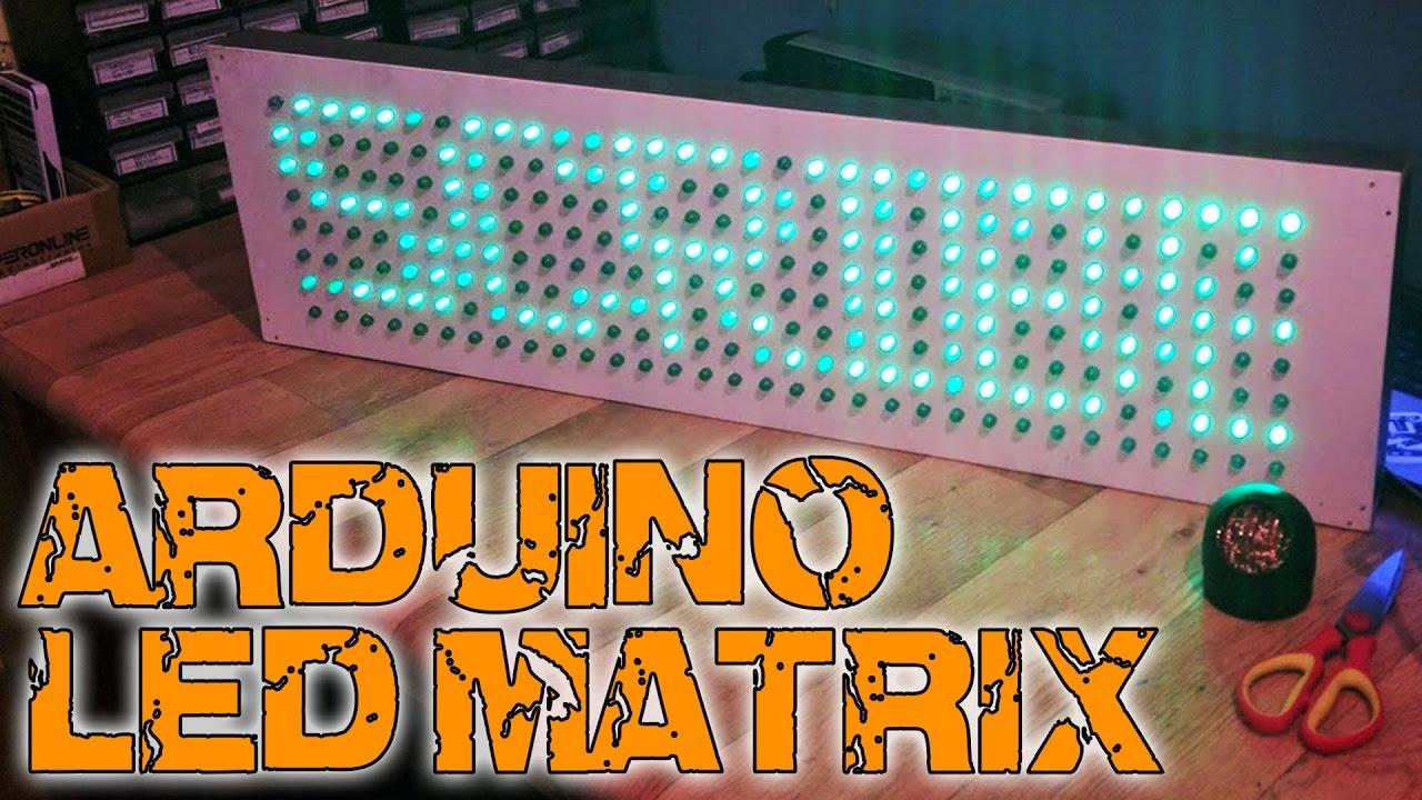 Arduino Led Matrix Circuit Diagram