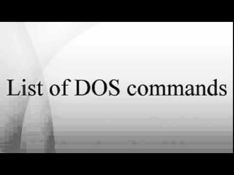 List of DOS commands