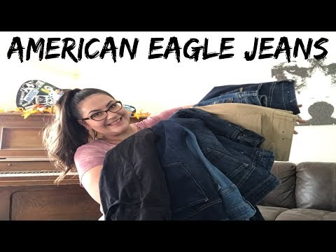 Trying On TEN Pairs Of American Eagle Jeans | Plus Size