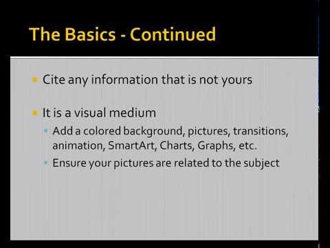 Displaying Your Research: Creating an APA style MS PowerPoint Presentation (8/8/2013)