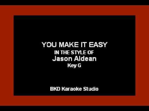 Jason Aldean - You Make It Easy (Karaoke with Lyrics)