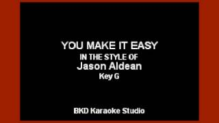 Jason Aldean - You Make It Easy (Karaoke with Lyrics)