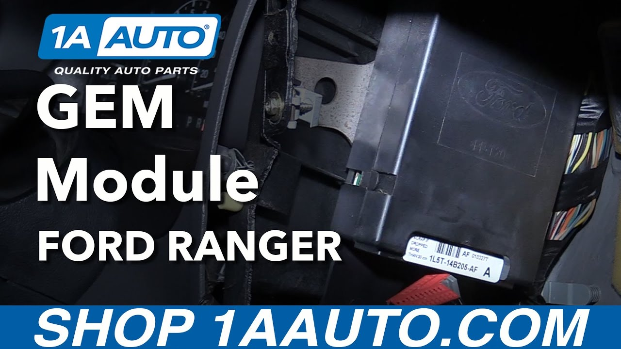 hight resolution of how to replace gem module 98 12 ford ranger
