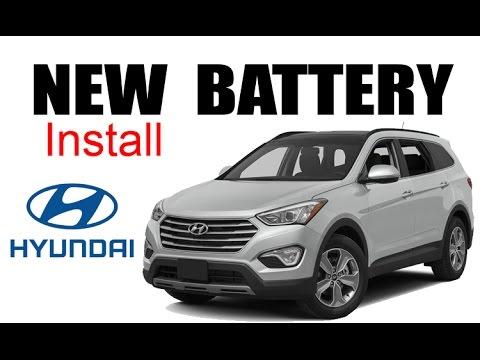 2017 Hyundai Santa Fe Battery Replacement