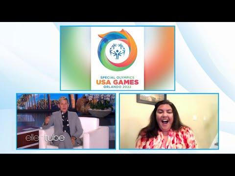 Ellen surprises Special Olympics Athlete