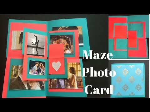 How to make Maze Photo Card | Explosion box card | Scrapbook card