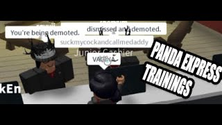 TROLLING AT PANDA EXPRESS TRAININGS *FIRED!*- ROBLOX
