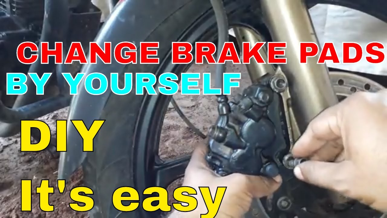 how to change disc brake pads of your motorcycle youtube. Black Bedroom Furniture Sets. Home Design Ideas
