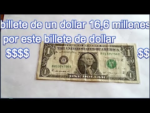 BILLETE De 1 Dollar Que Vale Una Fortuna