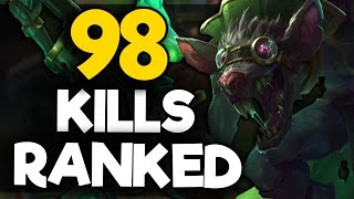Placing a CHALLENGER in a BRONZE GAME (GETS 98 KILLS IN RANKED)  INSANE GAME