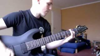 Testing my brandnew Schecter Diamond Demon 7 String Guitar