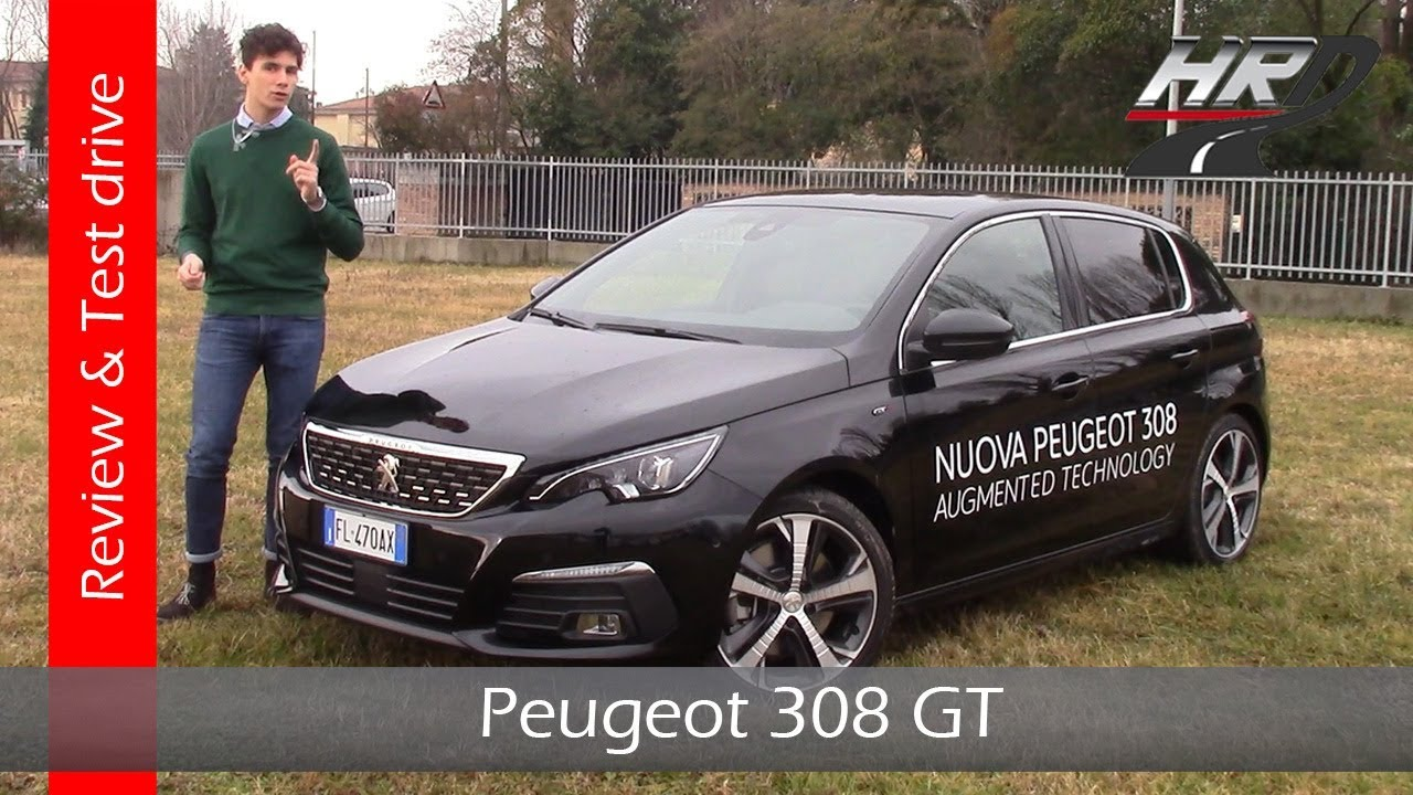 2018 peugeot 308 gt eat8 restyling recensione e test drive youtube. Black Bedroom Furniture Sets. Home Design Ideas