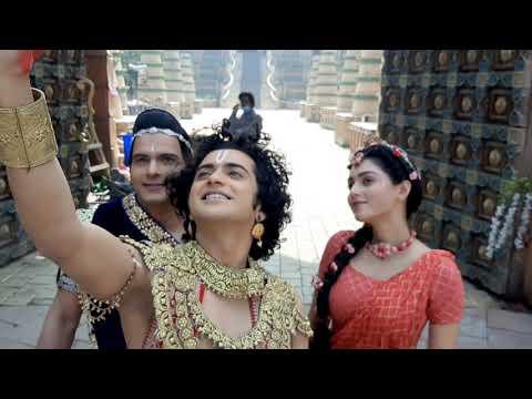 radhakrishn funny moments on set . behind the scenes