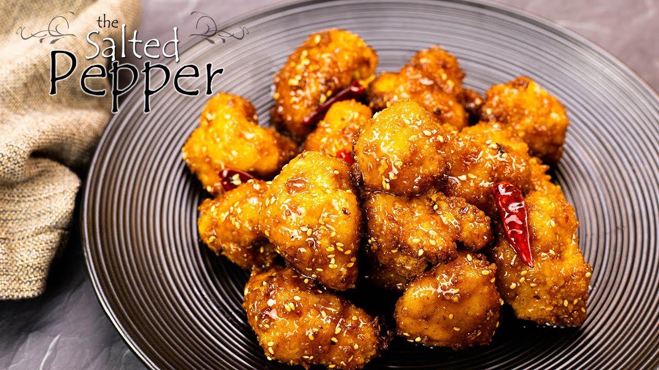 General Tso's Air Fried Cauliflower Bites