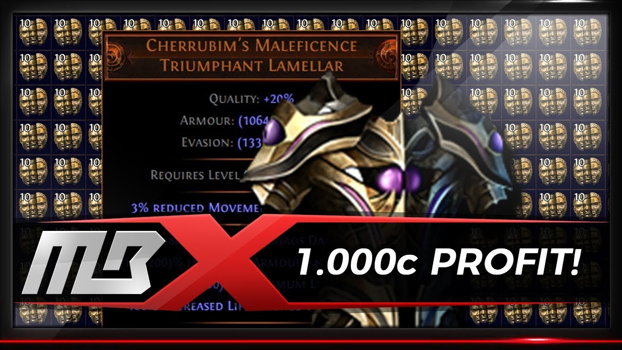 path of exile 1000 chaos plus cherrubim s maleficence forging