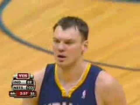 Sarunas Jasikevicius last game as a Pacer highlights...