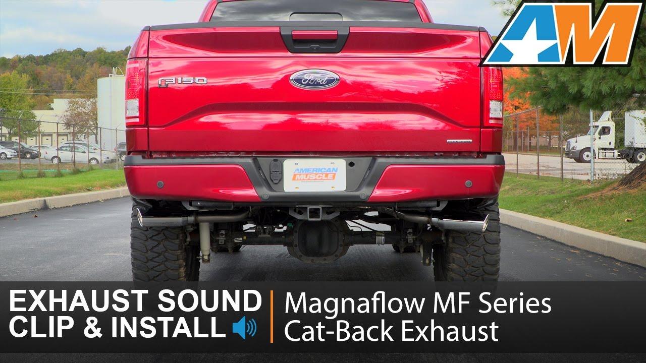 2015 2017 f 150 magnaflow mf series cat back exhaust split side exit 5 0l sound clip install