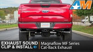 magnaflow street series dual exhaust system with polished tips side exit 15 20 5 0l f 150