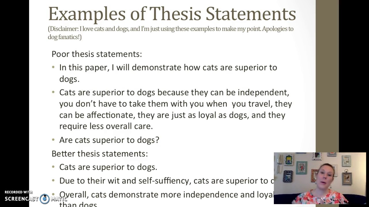 Thesis Statements And Topic Sentences - YouTube