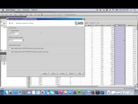 L10  Introduction to Data Cleaning in SAS EG
