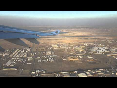 Emirates A330-200 A6-EKW Taking off from Basra, Iraq to Dubai