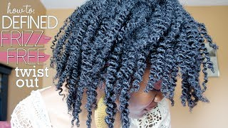 defined frizz free twist out   natural hair