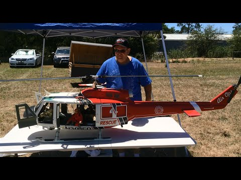 Huge Scale RC Helicopter - Bell 205
