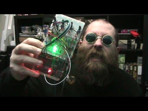 Arduino + Speakjet speech synthesis 'Nonsense Babbler'
