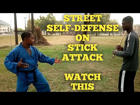 Stick attack and how to defend yourself in real life (Build self confidence) WATCH THIS