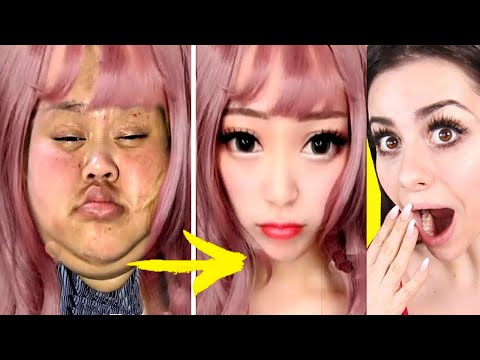 Viral Asian MAKEUP TRANSFORMATION Tutorial ! thumbnail