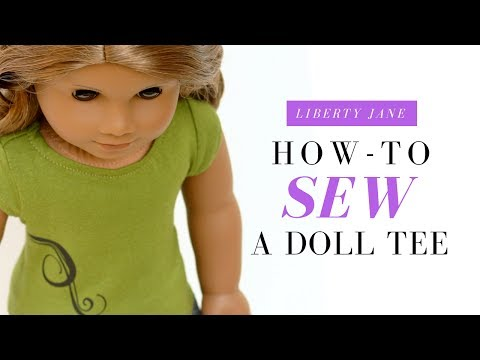 How To Sew A Doll T-Shirt For Your 18 Inch American Girl Doll