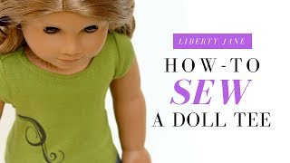 Repeat youtube video How To Sew a Doll T-Shirt For your American Girl Doll