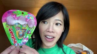 HUGE Japanese snacks & candy taste test - cuttlefish, super sour gum & cuteness!!!