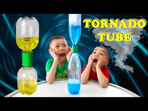 Tornado Tube | Cool Easy Science Experiment for Kids | Lucas & Ryan | LRH & Toys