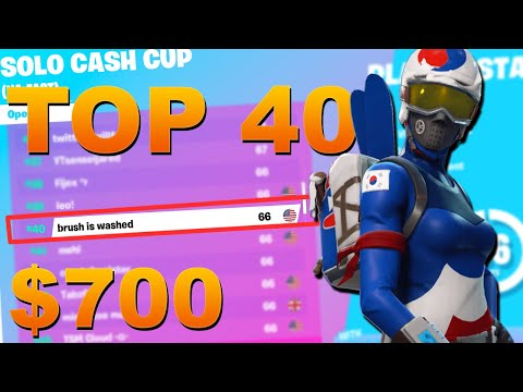 How I Placed Top 40 In The Solo Cash Cup (Won $700) | Brush Fortnite