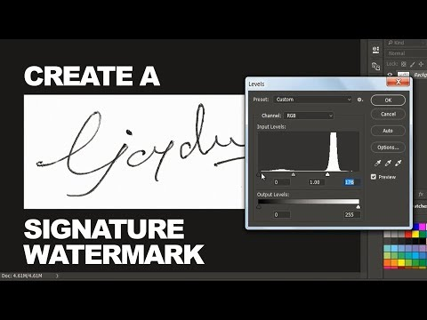 [DIY] Make Your Own Signature Into Watermark In Just 2 Minutes - Photoshopdesire.com