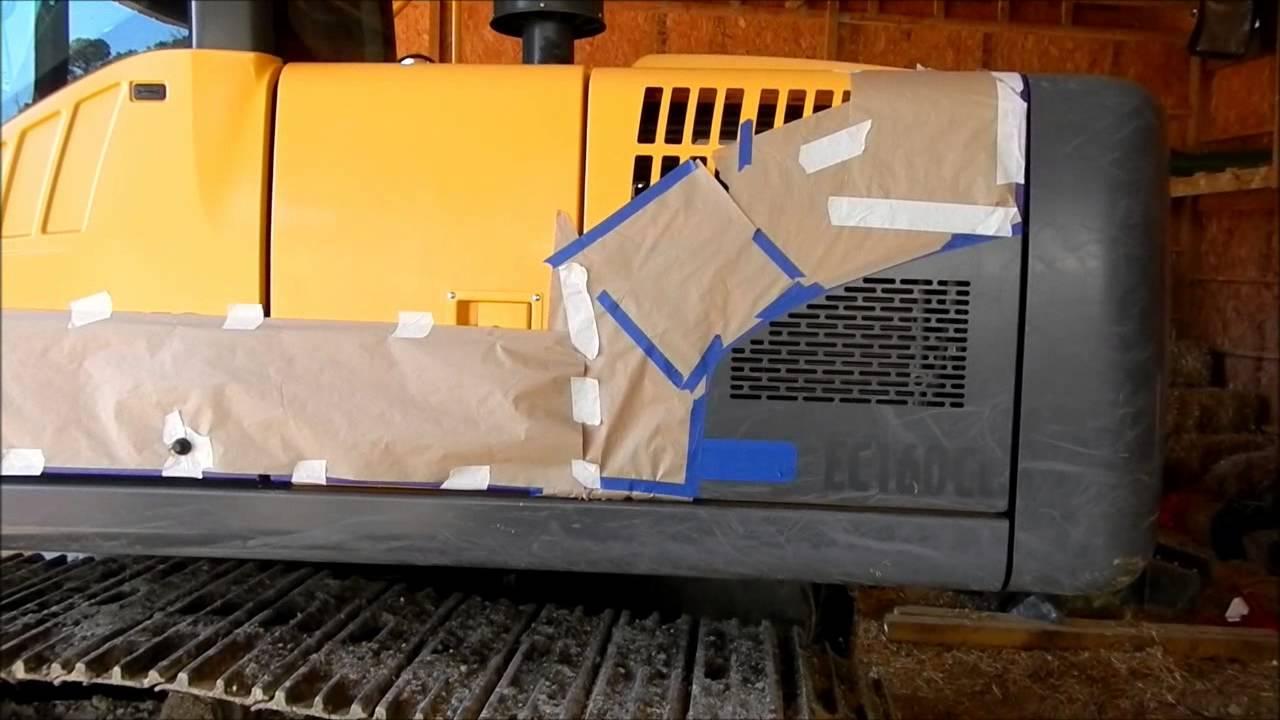 Repainting The Volvo Ec160cl Excavator Youtube