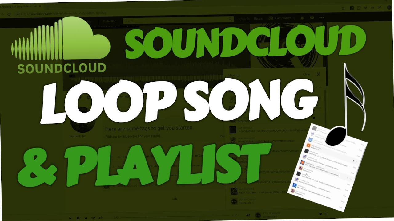 How to loop Soundcloud Song & Playlist (PC & Android | Next Up)