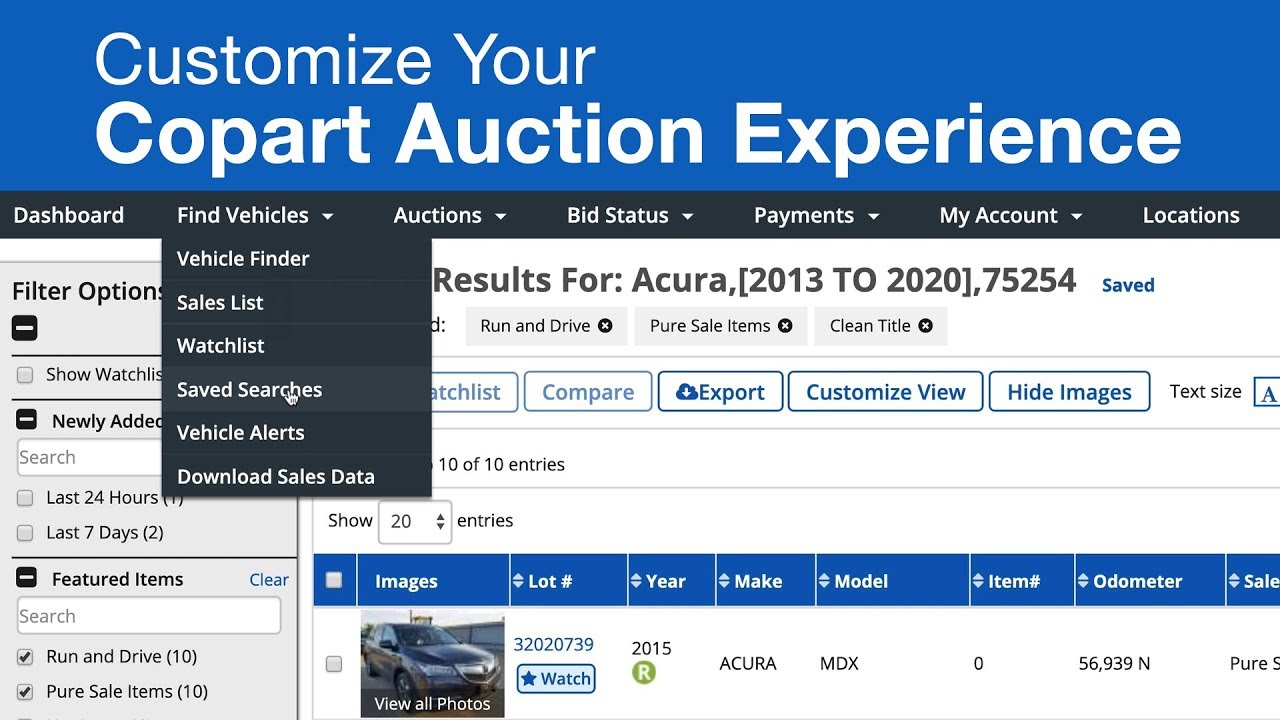 Customize Your Copart Auction Experience
