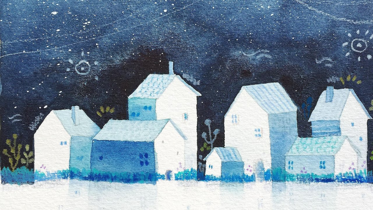 watercolor painting simple houses watercolour convert illustration luxury easy projects forest