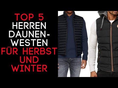 Daunenweste Herren/ Steppweste Herren -  Top 5 Westen für Herbst und Winter für Männer