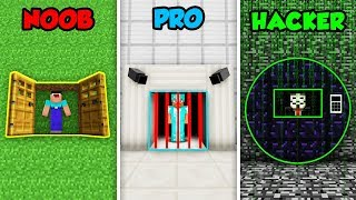 Minecraft NOOB vs. PRO vs HACKER: PRISON ESCAPE in Minecraft!