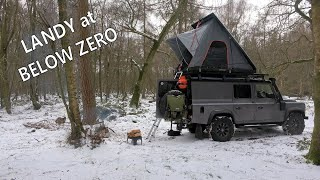 Roof Top Tent Camping in the Snow