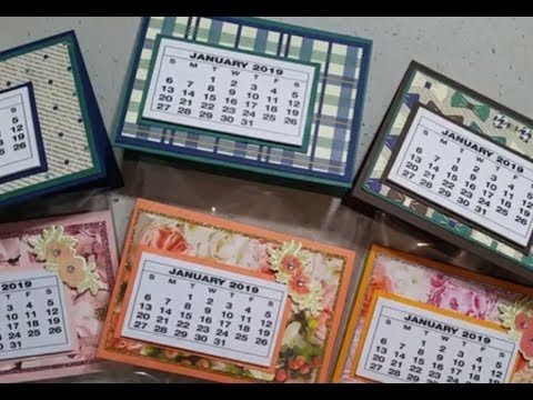 Fair Calendar 2019 Epis 120 Stampin Up! 2019 Desk Calendar Craft Fair Ideas Stamping