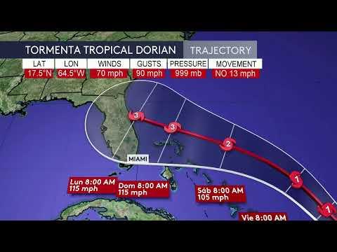 En Vivo Te Damos El último Reporte Del Centro Nacional De Huracanes Sobre La Tormenta Dorian