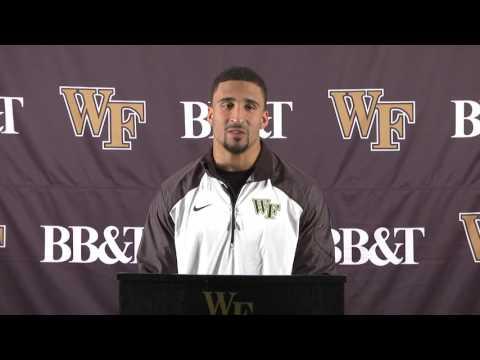 Ryan Janvion National Football Foundation postgraduate scholarship press conference