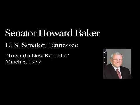 Landon Lecture | Howard Baker Jr. - audio only